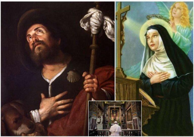 I Santi da invocare contro l'epidemia: Santa Rita ,San Rocco e San Sebastiano
