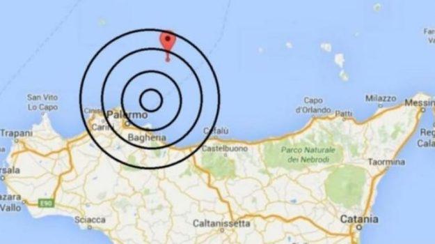 Terremoto magnitudo 4.3 al largo di Palermo