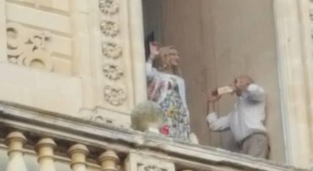 La pop star Madonna visita la cattedrale di Lecce